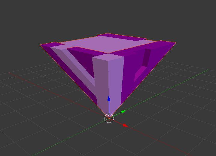 INZO pyramid in Blender